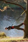 Zawieszenia szkolenie na drzewie Fotografia Stock