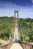 Zawieszenie most na huangling górze, adobe rgb zdjęcia stock