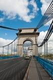 Zawieszenie most w alfortville fotografia stock