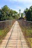 Zawieszenie most w Battambang, Kambodża zdjęcia stock