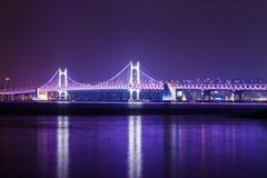 Zawieszenie most w Busan obrazy stock