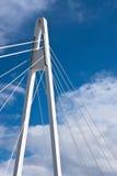 Zawieszenie most w Jyvaskyla, Finlandia Zdjęcia Stock