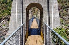 Zawieszenie most w katarakta wąwozie - Launceston Obraz Stock
