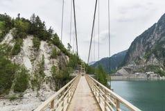 Zawieszenie most w naturze obraz stock