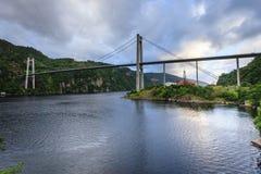 Zawieszenie most w Norwegia zdjęcie royalty free