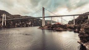 Zawieszenie most w Norwegia zdjęcia royalty free