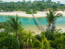 Zawieszenie most w Palawan plaży zdjęcie royalty free
