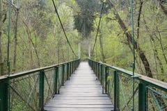 Zawieszenie most w Transylvania obrazy royalty free