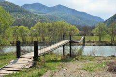 Zawieszenie most w Transylvania obraz royalty free