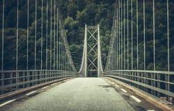 Zawieszenie mosta temat obraz stock