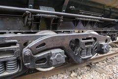 Zawieszenie stary pociąg fotografia stock