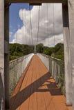 Zawieszony footbridge Zdjęcia Stock