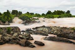 Zawietrzna siuśki siklawa w Laos Obrazy Royalty Free