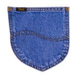Zawietrznego bednarza znak Na Nowożytnym Błękitnym Jean Obraz Stock