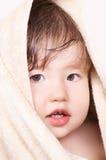 zawijający kąpielowy dziecko ręcznik Zdjęcia Stock