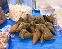 Zawijający kleiści ryż zdjęcie royalty free