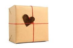 zawijający pudełkowaty prezent obraz stock
