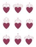 Zawijasów serca Fotografia Royalty Free