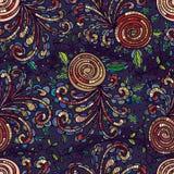 Zawijas rośliny purpurowy bezszwowy wzór Obrazy Stock