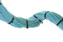 Zawijas turkusu promienia kabel z kablowymi krawatami Obraz Royalty Free