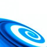 Zawijasa abstrakcjonistyczny błękitny tło Zdjęcia Stock