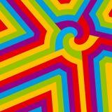 zawijasa abstrakcjonistyczny kolorowy wektor Obrazy Stock