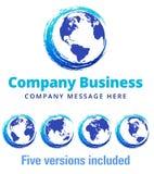 Zawijasa Globalnego Firma loga Biznesowy symbol Fotografia Royalty Free