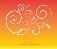 Zawijasa joga graficzna poza Zdjęcie Stock