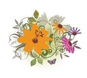 zawijasa kwiat ilustracji