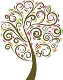 Zawijasa kwiecisty drzewo Obraz Stock