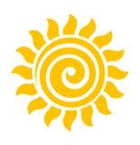 Zawijasa słońca ikony wektor royalty ilustracja