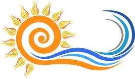 Zawijasa słońca logo royalty ilustracja
