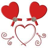 zawijasa serca czerwień Obrazy Royalty Free
