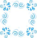 Zawijasa wzór gwiazdy na białym tle Fotografia Royalty Free