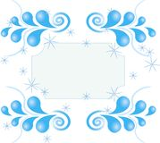 Zawijasa wzór gwiazdy na białym tle Zdjęcie Royalty Free