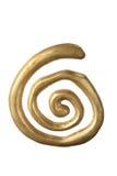 Zawijasa złocisty Ornament Zdjęcia Stock