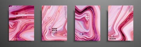 Zawijasy marmur lub czochry agat Ciecz marmurowa tekstura Rzadkopłynna sztuka Obowiązujący dla projekt pokryw, prezentacja ilustracji