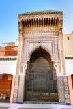 Zawiya西迪贝勒阿巴斯在马拉喀什,摩洛哥 库存图片