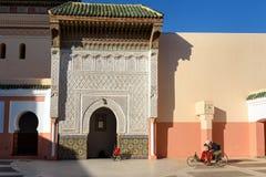 Zawiya西迪贝勒阿巴斯在马拉喀什,摩洛哥 图库摄影