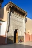 Zawiya Sidi Bel Abbes i Marrakesh, Marocko Arkivfoto