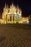 Zawodnik bez szans kościół w nocy Zdjęcie Royalty Free