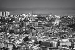 Zawodnik bez szans Lisbon śródmieście Obrazy Stock