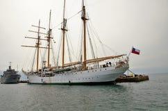 Zawodnik bez szans stary statek Obrazy Stock