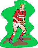 zawodnika rugby royalty ilustracja