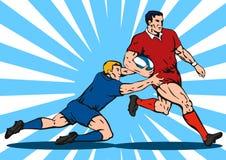 zawodnika rugby w Zdjęcie Stock