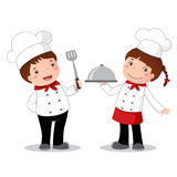 Zawodu kostium szef kuchni dla dzieciaków ilustracja wektor