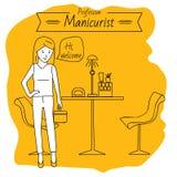 Zawodu manicurzysty kobieta robi manicure'owi Obraz Royalty Free