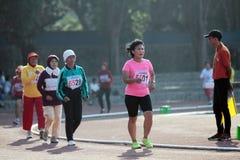 Zawody atletyczni atlety podążać ścieżkę zdrowe starsze osoby a Obraz Royalty Free