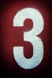 Zawody atletyczni liczba trzy Zdjęcie Royalty Free