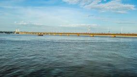 Zawody międzynarodowi most który jednoczy Argentyna z Paraguay zdjęcia royalty free
